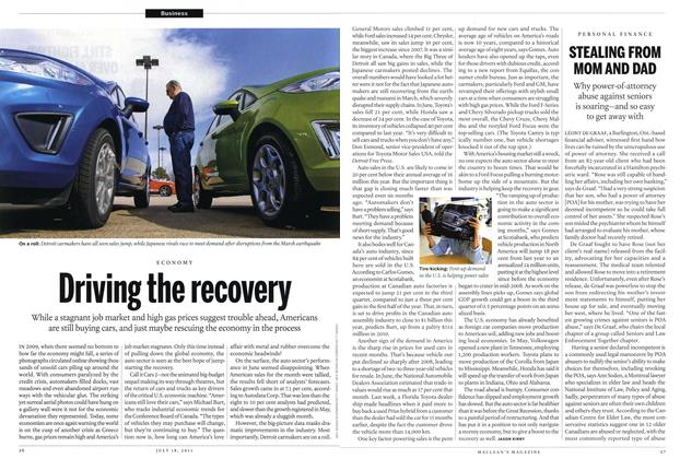 Article Preview: Driving the recovery, July 2011 | Maclean's