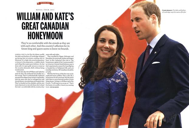 Article Preview: WILLIAM AND KATE'S GREAT CANADIAN HONEYMOON, July 2011 | Maclean's