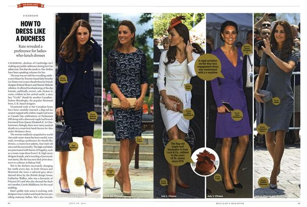 Article Preview: HOW TO DRESS LIKE A DUCHESS, July 2011 | Maclean's