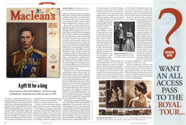Article Preview: A gift fit for a king, July 2011 | Maclean's
