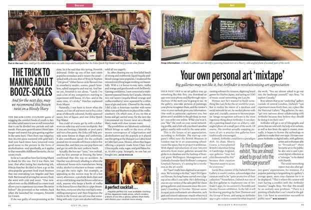 Article Preview: Your own personal art 'mixtape', July 2011   Maclean's