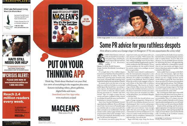Article Preview: Some PR advice for you ruthless despots, July 2011 | Maclean's