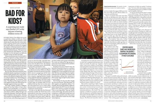 Article Preview: BAD FOR KIDS?, July 2011 | Maclean's