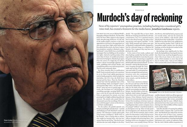 Article Preview: Murdoch's day of reckoning, July 25th 2011 | Maclean's