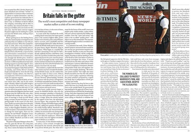 Article Preview: Britain falls in the gutter, July 25th 2011   Maclean's