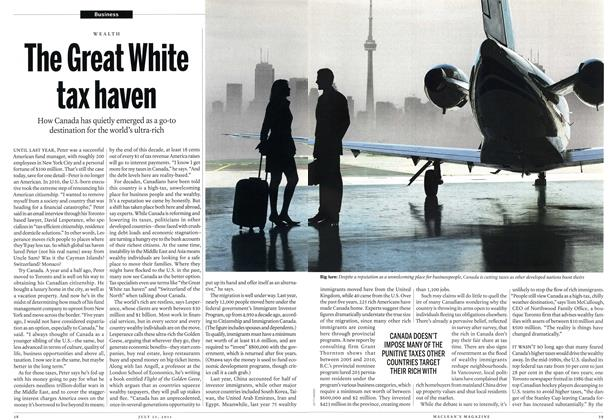 Article Preview: The Great White tax haven, July 25th 2011 | Maclean's