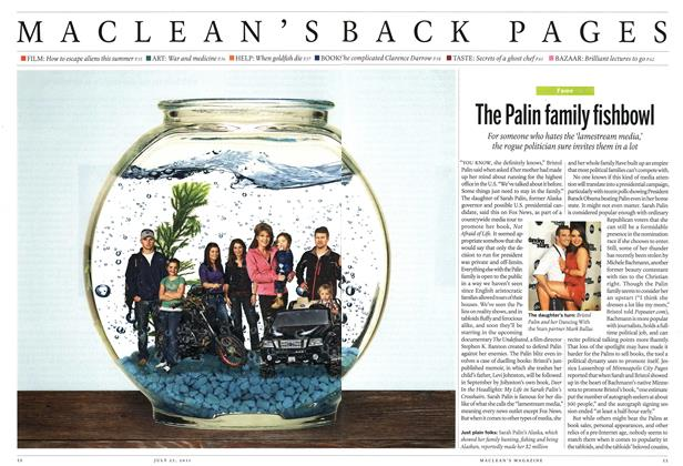 Article Preview: The Palin family fishbowl, July 25th 2011 | Maclean's