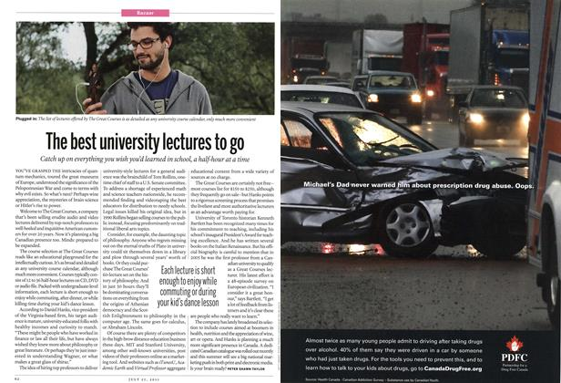 Article Preview: The best university lectures to go, July 2011 | Maclean's