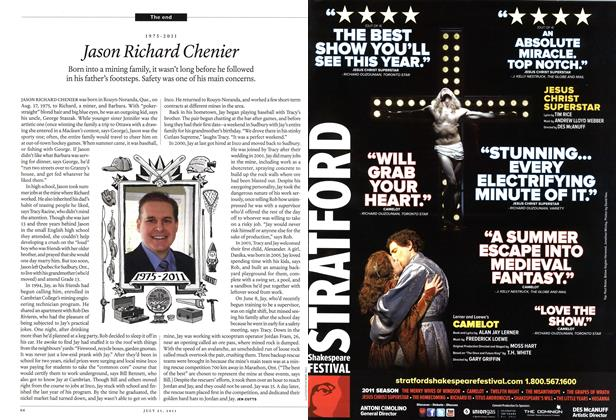 Article Preview: 1975-2011 Jason Richard Chenier, July 25th 2011   Maclean's