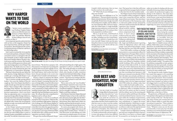 Article Preview: WHY HARPER WANTS TO TAKE ON THE WORLD, July 25th 2011 | Maclean's