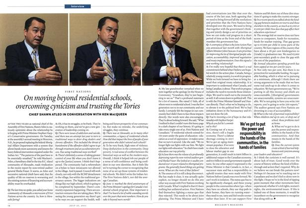 Article Preview: On moving beyond residential schools, overcoming cynicism and trusting the Tories, July 25th 2011 | Maclean's