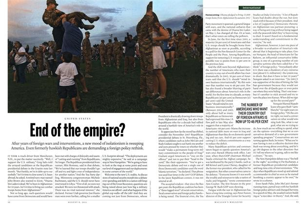 Article Preview: UNITED STATES End of the empire?, AUGUST 1 & 8, 2011 2011 | Maclean's