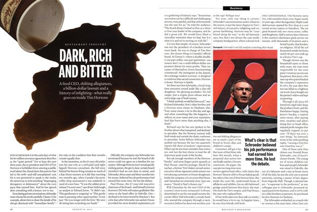 Article Preview: RESTAURANT INDUSTRY DARK, RICH AND BITTER, AUGUST 1 & 8, 2011 2011 | Maclean's
