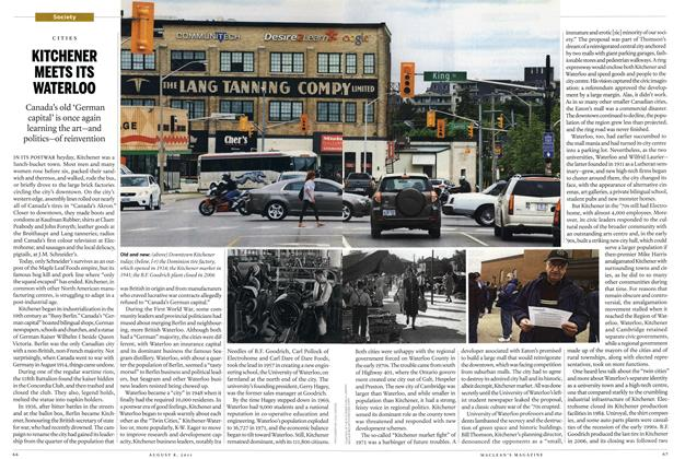Article Preview: CITIES KITCHENER MEETS ITS WATERLOO, AUGUST 1 & 8, 2011 2011 | Maclean's