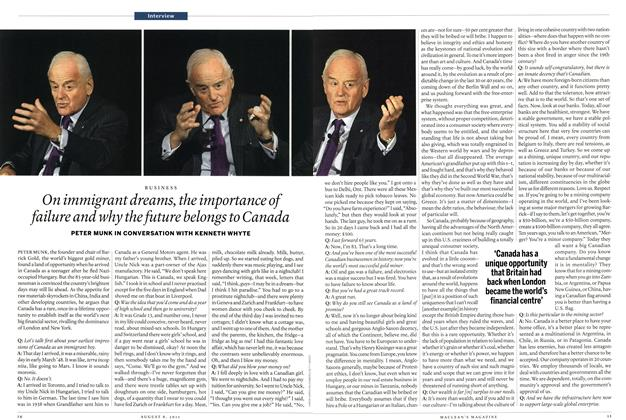 Article Preview: On immigrant dreams, the importance of failure and why the future belongs to Canada, AUGUST 1 & 8, 2011 2011 | Maclean's