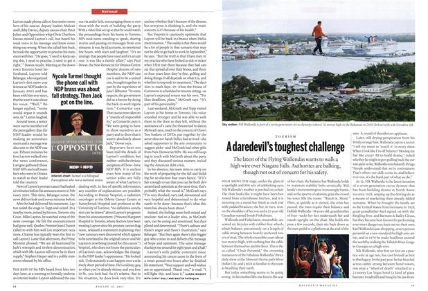 Article Preview: TOURISM A daredevil's toughest challenge, August 15th 2011 | Maclean's
