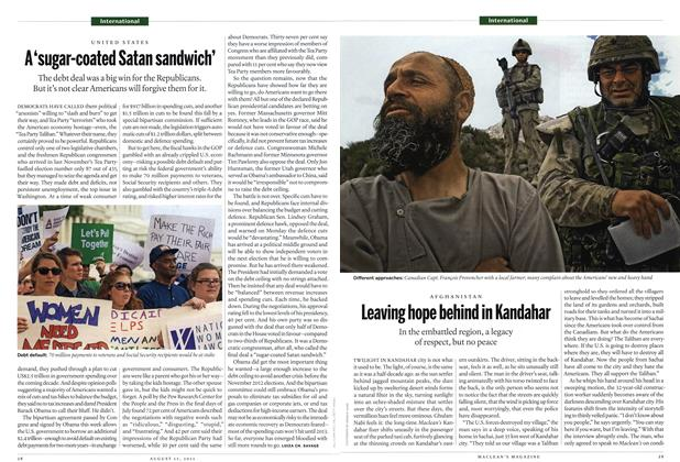 Article Preview: AFGHANISTAN Leaving hope behind in Kandahar, August 2011 | Maclean's