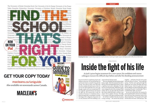Article Preview: Inside the light of his life, August 2011 | Maclean's
