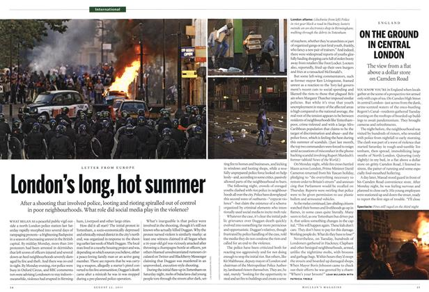 Article Preview: ON THE GROUND IN CENTRAL LONDON, August 22nd 2011 | Maclean's