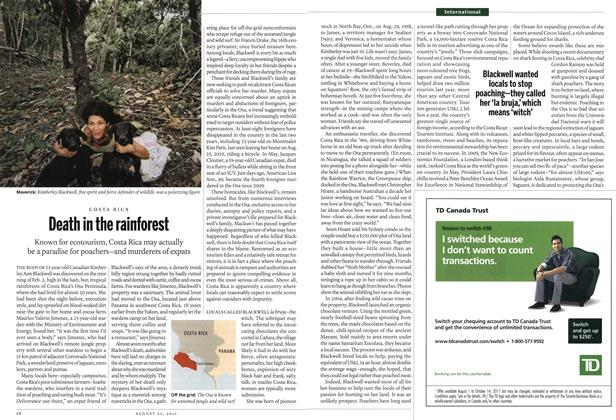 Article Preview: Death in the rainforest, August 22nd 2011 | Maclean's