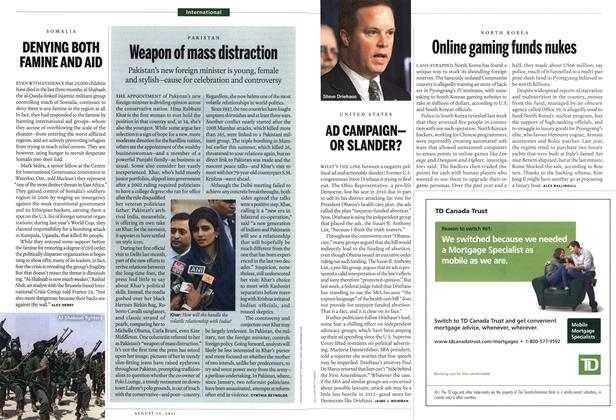 Article Preview: Online gaming funds nukes, August 22nd 2011 | Maclean's