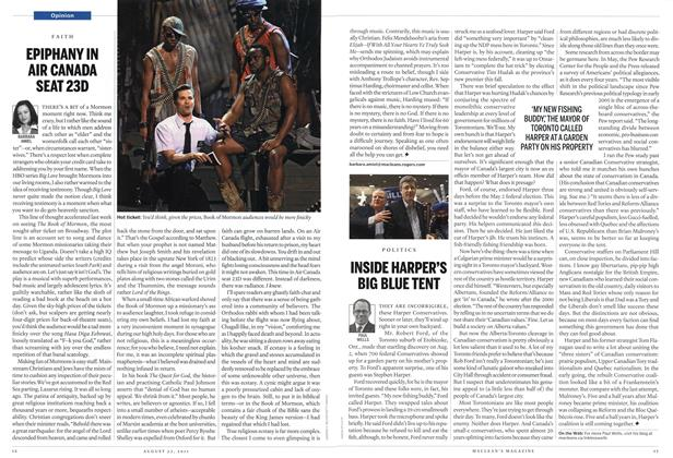 Article Preview: INSIDE HARPER'S BIG BLUE TENT, August 22nd 2011 | Maclean's