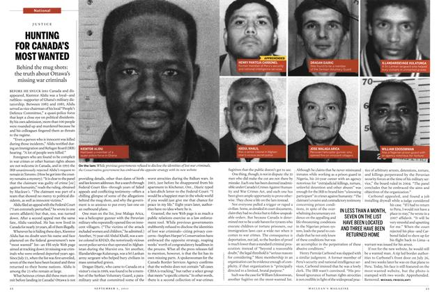 Article Preview: HUNTING FOR CANADA'S MOST WANTED, August 29th 2011 | Maclean's