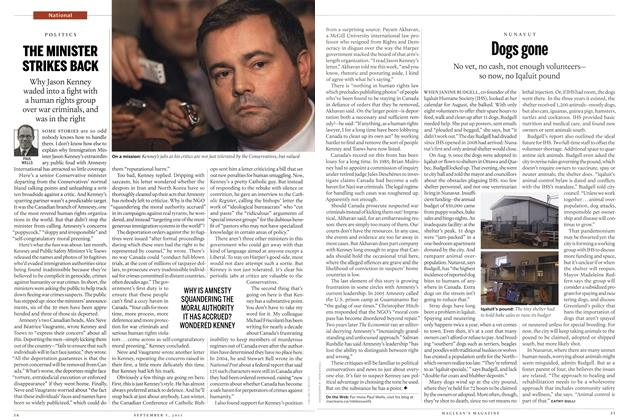 Article Preview: THE MINISTER STRIKES BACK, September 2011 | Maclean's