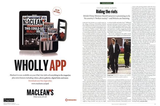 Article Preview: Riding the riots, August 29th 2011 | Maclean's