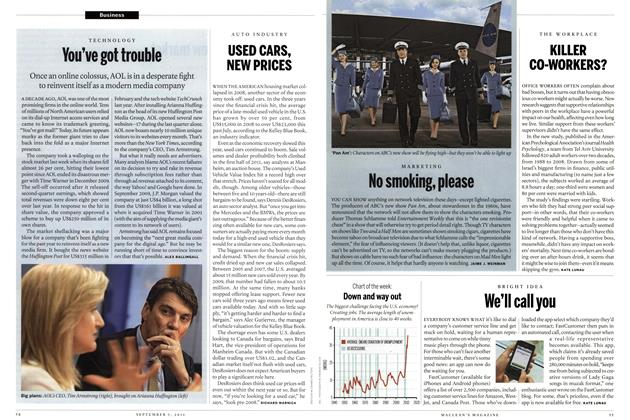 Article Preview: Down and way out, August 29th 2011 | Maclean's