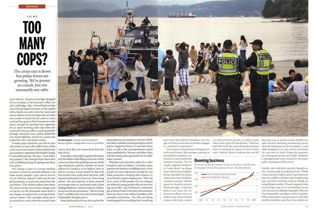 Article Preview: TOO MANY COPS?, September 2011 | Maclean's