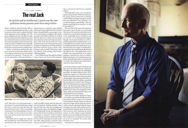 Article Preview: Jack Layton, September 2011 | Maclean's