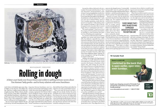 Article Preview: RESTAURANT INDUSTRY Rolling in dough, September 2011 | Maclean's