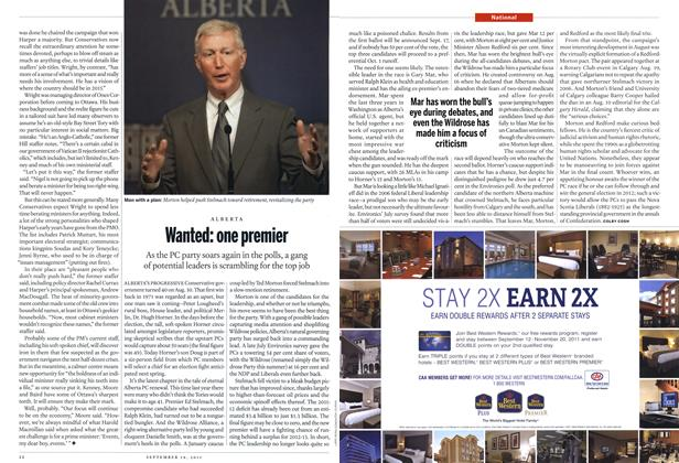 Article Preview: Wanted: one premier, September 19th 2011 | Maclean's