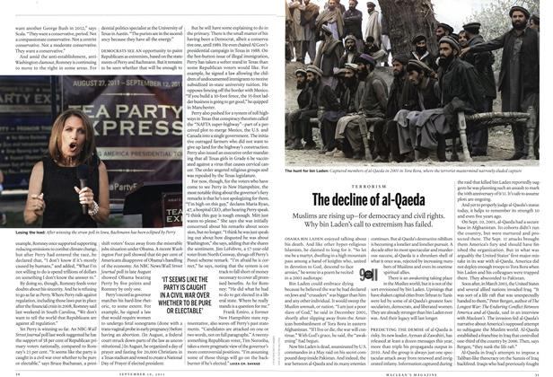 Article Preview: The decline of al-Qaeda, September 19th 2011 | Maclean's