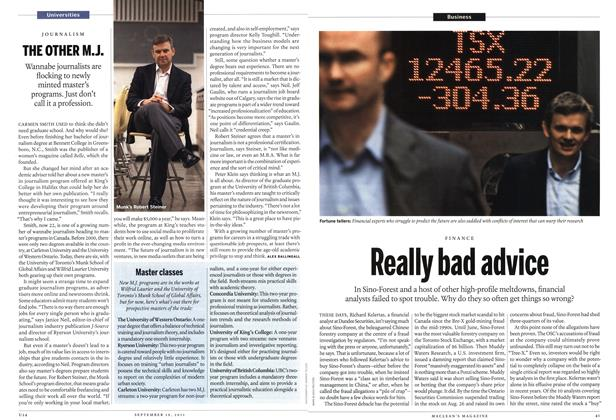 Article Preview: Really bad advice, September 19th 2011 | Maclean's