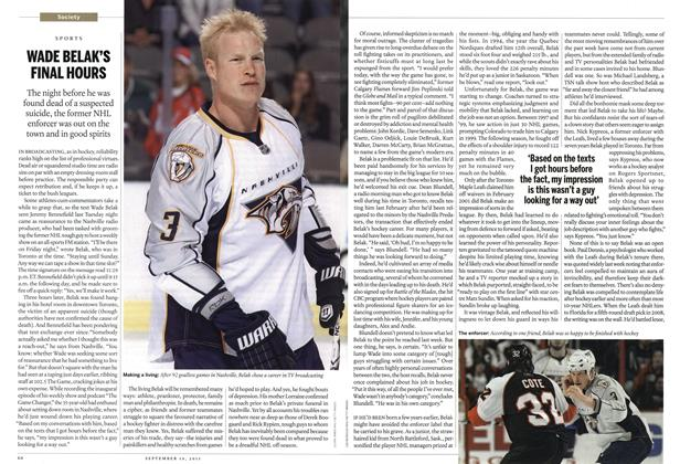 Article Preview: WADE BELAK'S FINAL HOURS, September 2011 | Maclean's