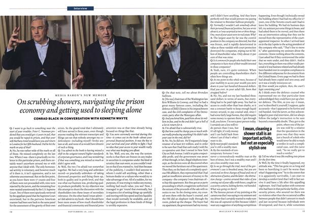 Article Preview: On scrubbing showers, navigating the prison economy and getting used to sleeping alone, September 19th 2011 | Maclean's