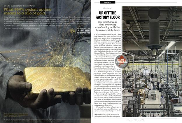 Article Preview: ECONOMY UP OFF THE FACTORY FLOOR, September 2011 | Maclean's