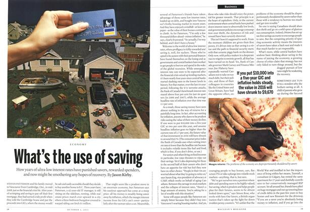 Article Preview: ECONOMY What's the use of saving, October 3rd 2011 | Maclean's