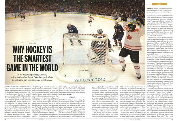 Article Preview: SPORTS WHY HOCKEY IS THE SMARTEST GAME IH THE WORLD, October 3rd 2011 | Maclean's