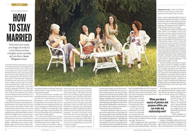 Article Preview: HOW TO STAY MARRIED, October 2011 | Maclean's