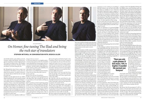 Article Preview: On Homer, fine-tuning The Iliad and being the rock star of translators, October 24th 2011 | Maclean's