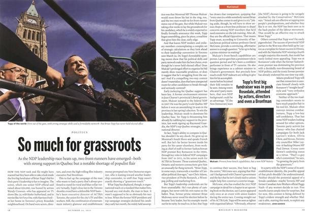 Article Preview: So much for grassroots, October 24th 2011 | Maclean's