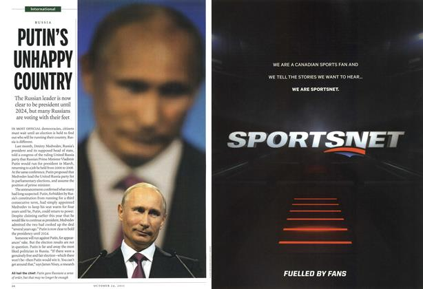 Article Preview: PUTIN'S UNHAPPY COUNTRY, October 24th 2011 | Maclean's