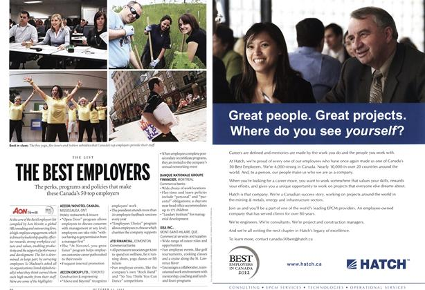 Article Preview: T u F T T c T THE BEST EMPLOYERS, October 31st 2011 | Maclean's