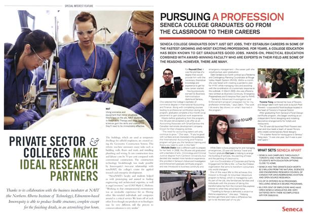 Article Preview: PURSUING A PROFESSION SENECA COLLEGE GRADUATES GO FROM THE CLASSROOM TO THEIR CAREERS, October 31st 2011 | Maclean's