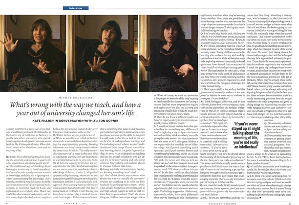 Article Preview: Interview, November 7th 2011 | Maclean's