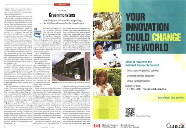 Article Preview: Green monsters, November 14th 2011 | Maclean's
