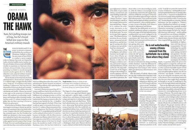 Article Preview: OBAMA THE HAWK, November 14th 2011 | Maclean's